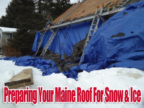 Maine Roofers Snow - David Deschaine Roofers
