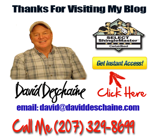 Waterfront Roofing In Maine- Dave Deschaine roof